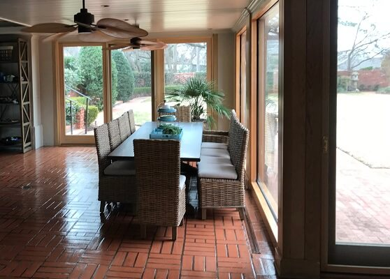 inside view of nichols hills home with new wood windows