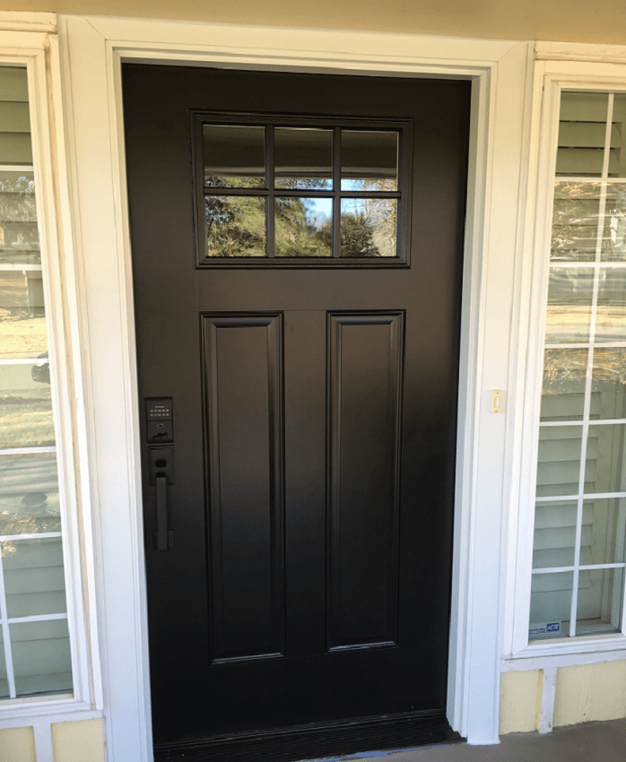 Black Fiberglass Entry Door Replacement