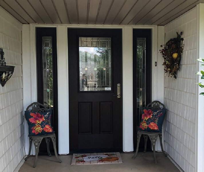 Beautiful Mahogany Wood Entry Door Updates Oklahoma City Home