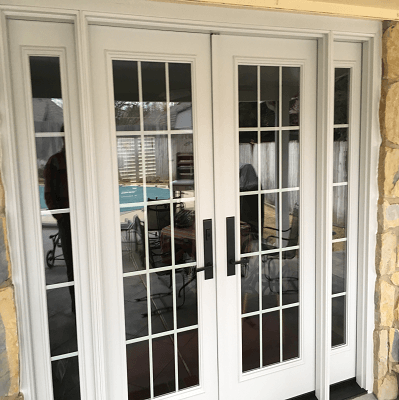 after image of fiberglass entry door on patio of edmund oklahoma home