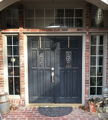 Before And After Entry Door Transformation In Tulsa