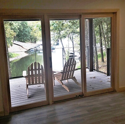 Second floor sliding patio door