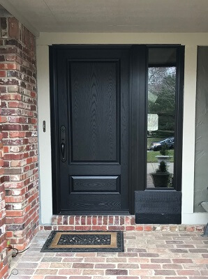 after image of south tulsa home with new fiberglass entry door