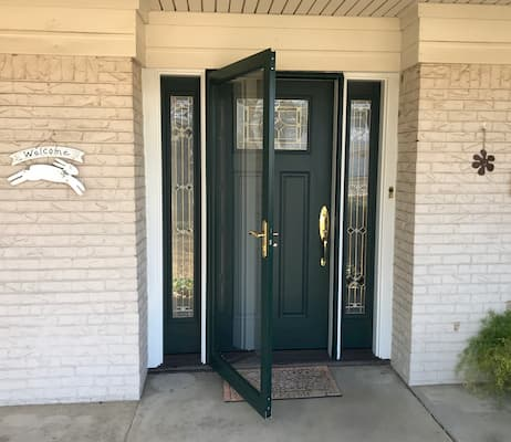 New Front Door System Upgrades Entryway