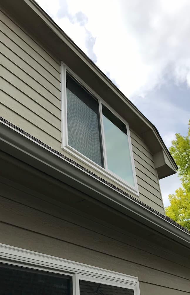New fiberglass windows installed in second-story master bedroom