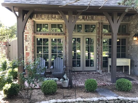 front porch image of tulsa oklahoma home with new wood casement windows