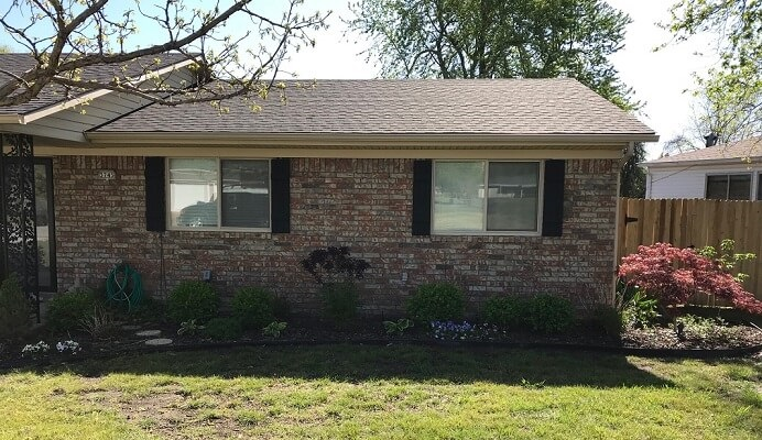new vinyl replacement windows on Tulsa home