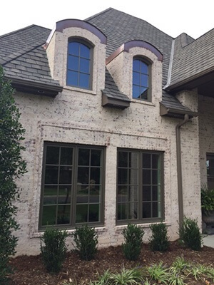 wood casement windows and special shape windows replacement project