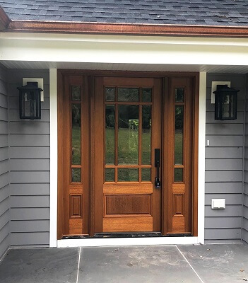 wood door for 40 year old princeton home