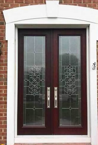 new double entry fiberglass door for philadelphia home