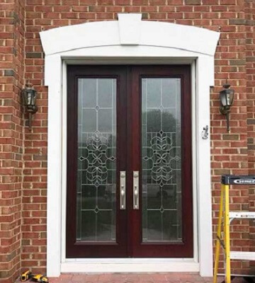 New Entry Door Brings Elegance and Light to Newark Home