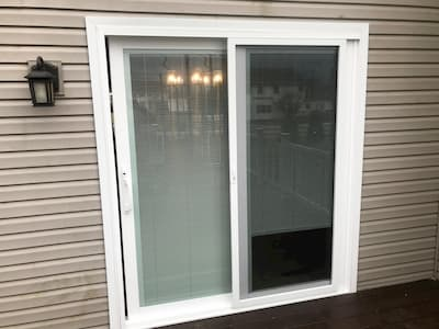 Sliding Patio Door with Blinds Gives Quakertown Homeowners Control