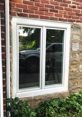 Wood Casement Window Replacement for Basement After