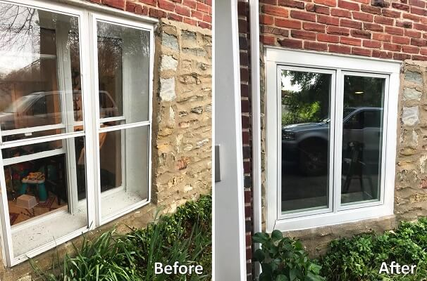Basement Window Replacement with Casement Windows