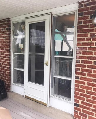 New Sliding Patio Door Brightens Dining Room And Creates Space