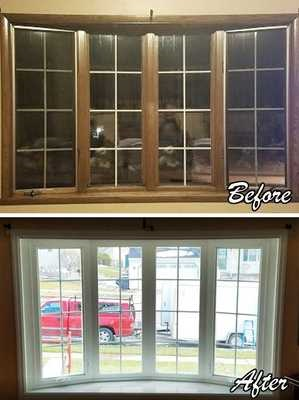 before and after of bay window