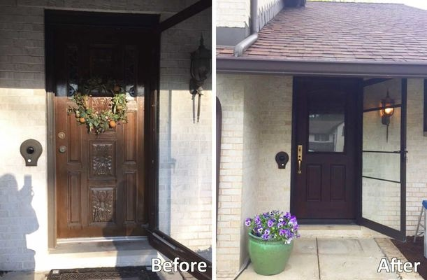 Before and After: Window and Door Replacement on Brick Home
