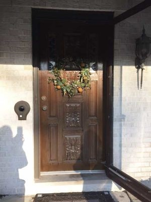 old wood entry door