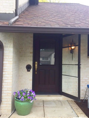 new wood entry door replacement