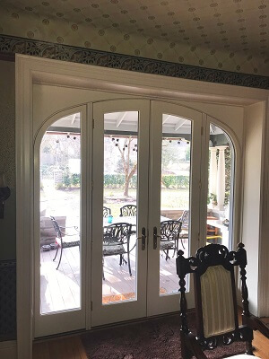 inside after image of bryn mawr home with new patio door