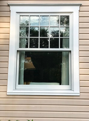 after image of camp hill home with new wood double hung windows