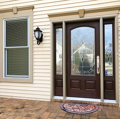 another after image of egg harbor home with new fiberglass entry door and double hung window