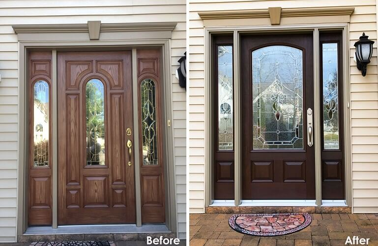 Fiberglass Entry Door Replacement For Historic Egg Harbor Township Home