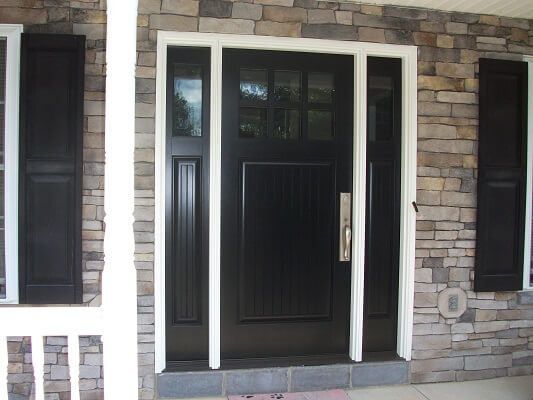 after image of fogelsville home with new fiberglass entry door