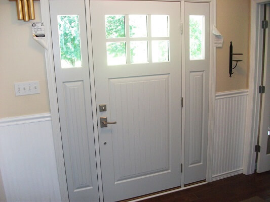 inside after image of fogelsville home with new fiberglass entry door