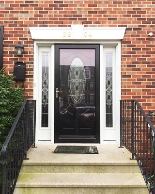 black fiberglass entry door in Philadelphia