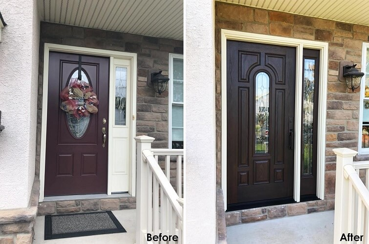 New Fiberglass Entry Door Eliminates Draft in Philadelphia Home