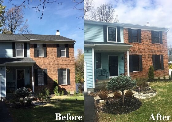 before and after photos of replacement windows project