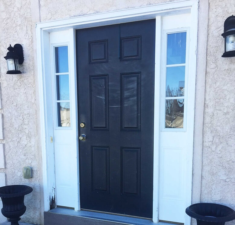 fiberglass entry door then