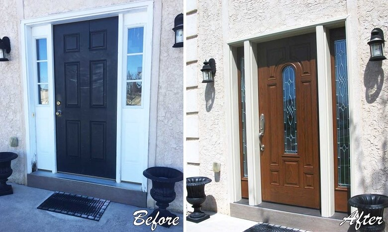Front Entry Door Replacement Transformation