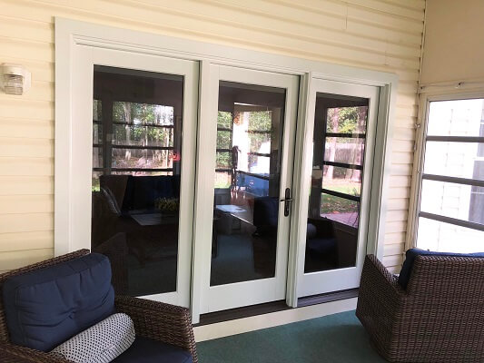 after image of philadelphia home with french inswing patio doors
