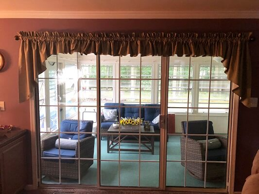 before image of philadelphia home with new french inswing patio doors