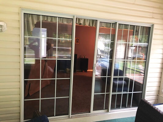 inside before image of philadelphia home with new french inswing patio doors
