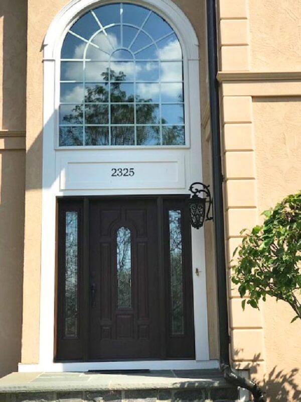 New Fiberglass Entry Door Updates Furlong Home Entryway
