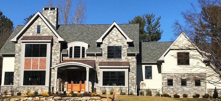 havervord new construction home has new wood casement windows