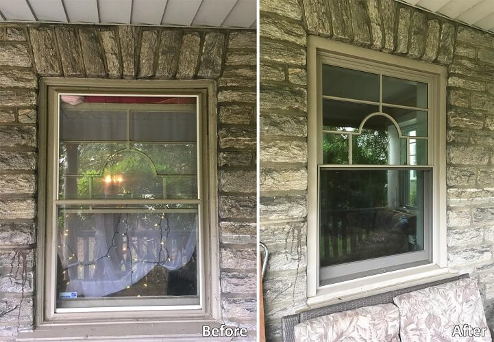 Historic Window Replacement With Custom Grille Pattern