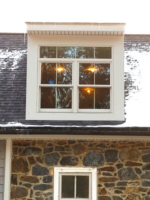 before image of hockessin home with new double hung windows