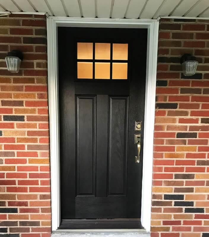 Low Maintenance Fiberglass Entry Door Replacement