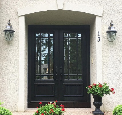 after image of medford home with new fiberglass double entry door