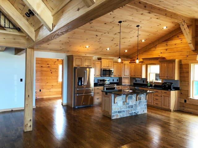 Pella Lifestyle Series Windows Shine in New Log Cabin ...