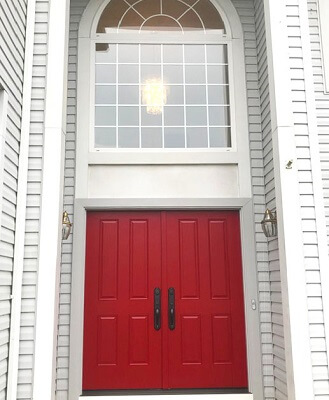 after image of montgomeryville home with new fiberglass entry door
