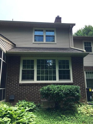 new wood casement windows give home beautiful view in philadelphia