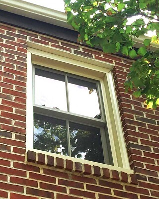 old double-hung window