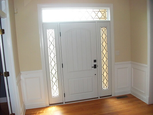 new fiberglass entry door in philadelphia home