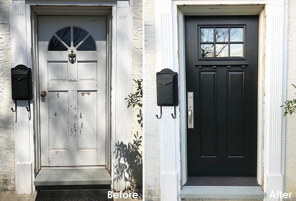 Berwyn Entry Door Replacement Completely Revitalized Entryway