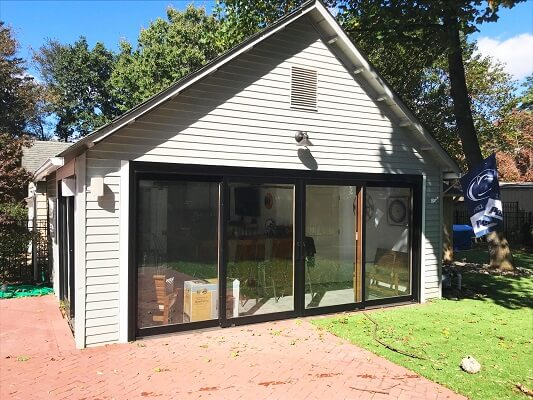 front after image of philadelphia garage with sliding patio doors